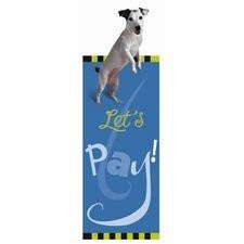 Lets Play Bouncing Jack Russell Terrier Bookmark