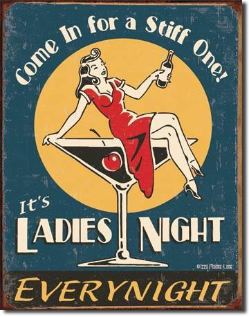 Ladies Night Cocktail Sign