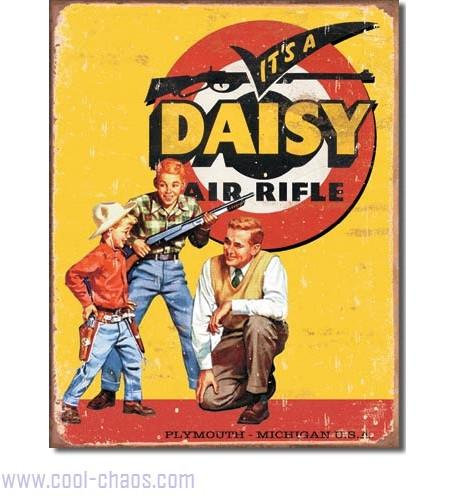 It's a Daisy Vintage Daisy Air Rifle Tin Sign