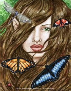 Aria Butterfly Fairy Dragonfly Sticker