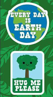 Earth Day Tree Hugger Environmental Stickers Set