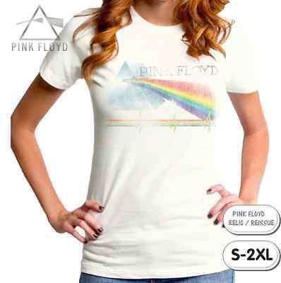 Pink Floyd T-Shirt / Juniors Retro Rock Tee / Rainbow Prism