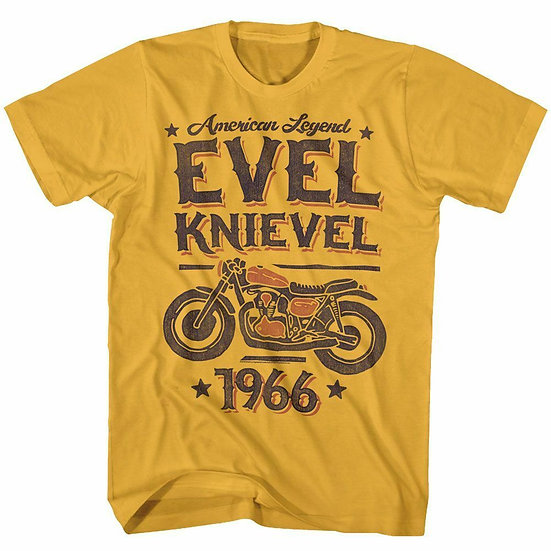 Evel Knievel T-Shirt / American Legend 1966 Evel Knievel Tribute Motorcycle Tee