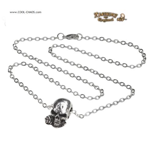 Rose Alchemy Skull Necklace - 40th Anniversary Skull - Alchemy Gothic 1977