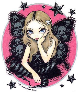 Stars Skull Butterfly Goth Fairy Sticker