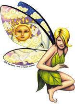 Claudia Moon Sun Fairy Sticker