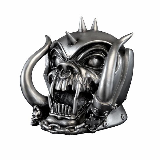 Motorhead Statue / Warpig Motorhead Collectible Skull by Alchemy Gothic 1977