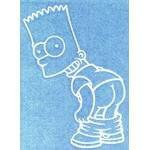 The Simpsons Bare Butt BA Bart Sticker
