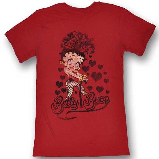 Betty Boop T-Shirt / Showgirl Valentine's Hearts Juniors Tee