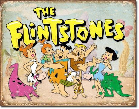 The Flintstones Tin Sign