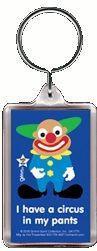 Circus Clown Gag Gift Keychain