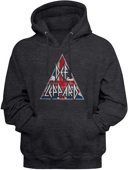 Def Leppard Hoodie / British Logo Def Leppard Hooded Sweatshirt