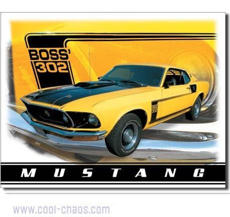 Boss 302 Ford Mustang Sign