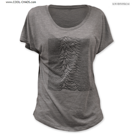 Joy Division T-Shirt / 80's 'Unknown Pleasures' Dolman Woman's Tee