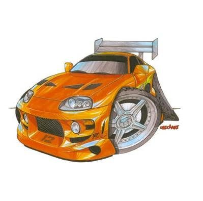 Fast and The Furious Sticker