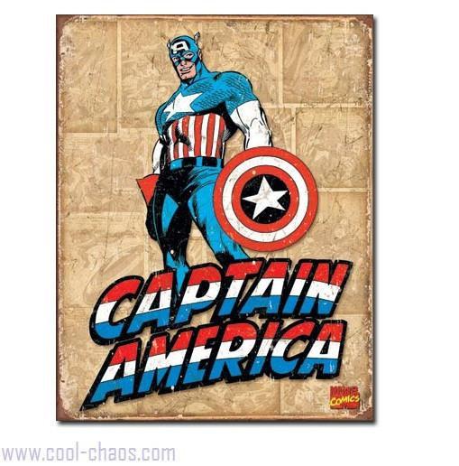 Retro-style Captain America Tin Sign