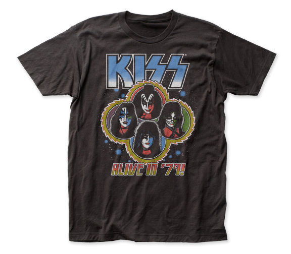 KISS Alive T-Shirt / KISS ALIVE IN '79 Throwback Rock Tee