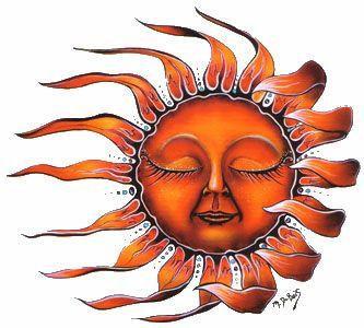 Sleeping Sun Whimsical Sun Celestial Sticker