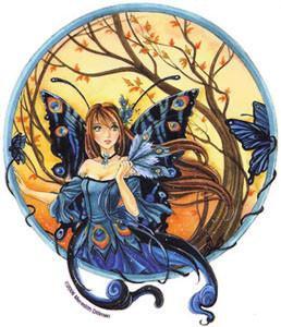 Beautiful Peacock Fairy Sticker