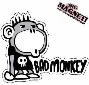 Bad Monkey Car Magnet