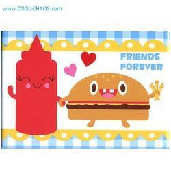 Retro Ketchup & Burger Friends Forever Magnet
