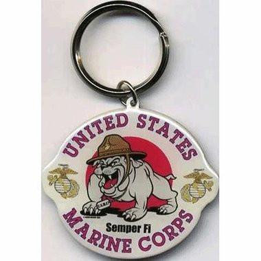 Marine Corp Bulldog US Marine Keychain