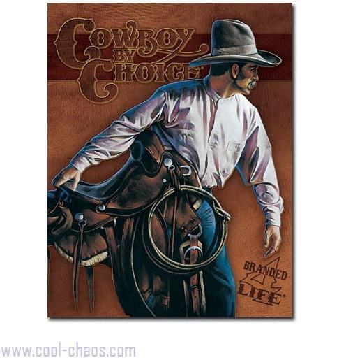 Branded 4 Life CowboyTin Sign