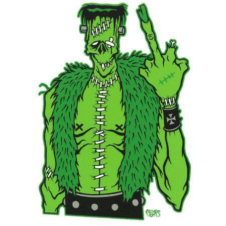Frankenfink Monster F U Sticker