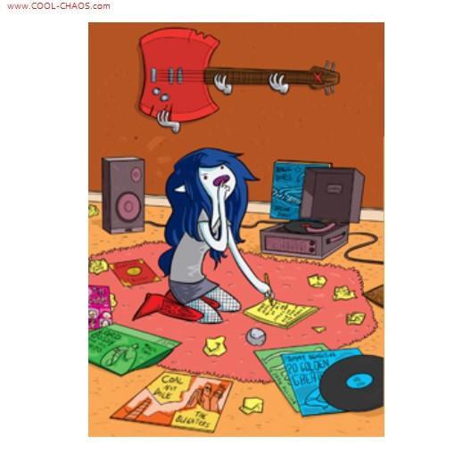 Listening to records Marceline the vampire queen magnet