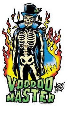Voodoo Master Rockabilly Hipster Sticker