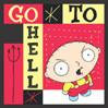 Family Guy Stewie Button Go to Hell