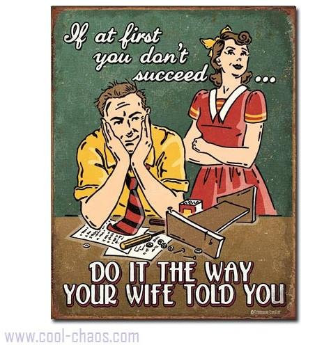 How to Succeed Listen to your Wife Sign