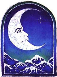 Tribal Blue Moon Window Sticker