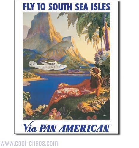 Travel The South Seas Pan American Sign