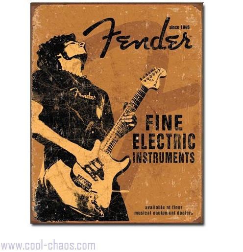 Rock on Fender Tin Sign