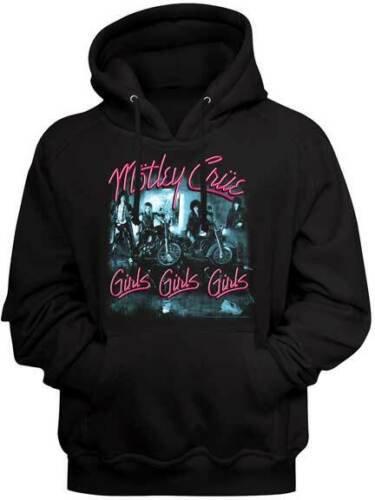 Motley Crue Hoodie / 80's Metal Motley Crue Girls Girls Girls Hooded Sweatshirt
