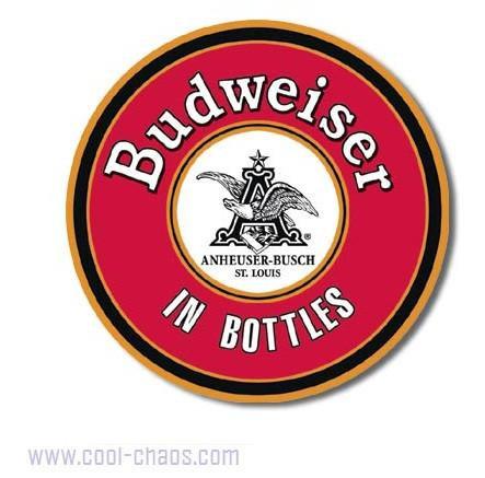 Round Budweiser Sign