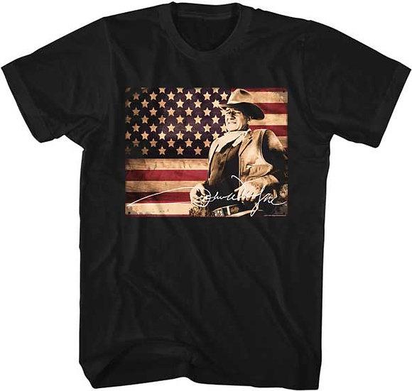 John Wayne T-Shirt / American Legend Cowboy Movies American Flag Tee