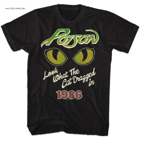Poison T-Shirt / Poison 'Look what the cat dragged in' 1986 Tee