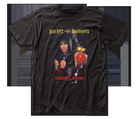 Joan Jett & the Blackhearts T-Shirt /  JOAN JETT CHERRY BOMB Retro Rock Tee