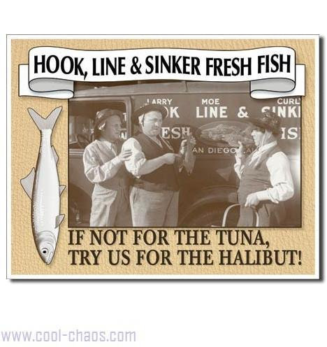 Hook Line and Sinker Fish Sign