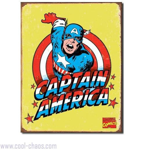Retro-style 70's Captain America Tin Sign