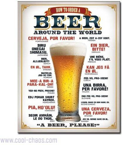 Order a Beer around the world-Beer Sign