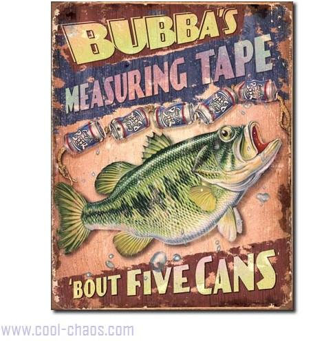 Beer Can Measure Fisherman's Sign