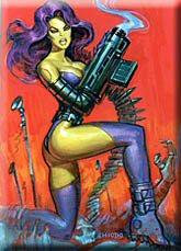 Sexy Space Woman Terminator Magnet