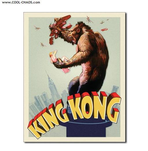 King Kong Fay Wray Movie Sign / King Kong Tin Sign
