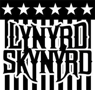 Stars Southern Rock Lynyrd Skynyrd Rub-on Sticker