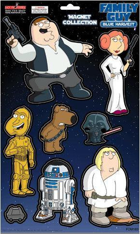 Family Guy Spoofs Star War Magnet Collection