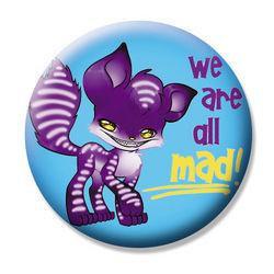 Gag Gift Button #11 Lil Purple Crazy Fox