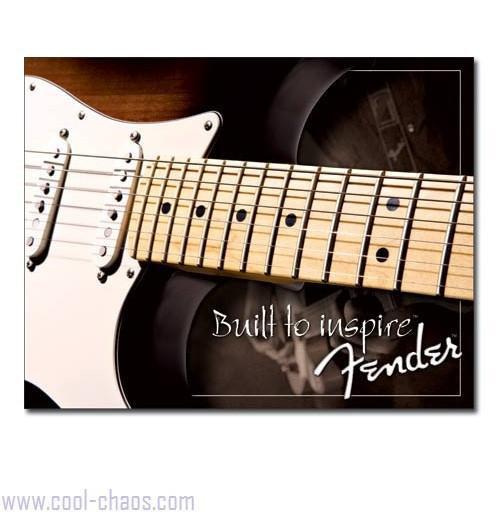 Built to Inspire Fender Guitars Tin Sign